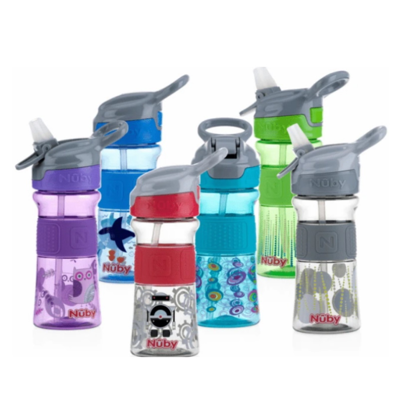 baby-fair Nuby Soft Spout On-the-Go Sports Bottle with Push Button 360ml
