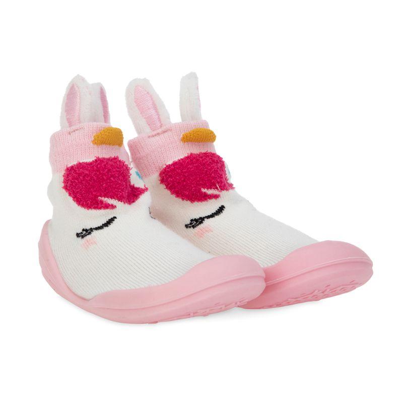 baby-fair Nuby Sock Shoes - Pink Swan