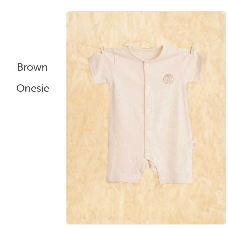 baby-fairNachuraru Brown Short Sleeve Onsie 0-18 Months