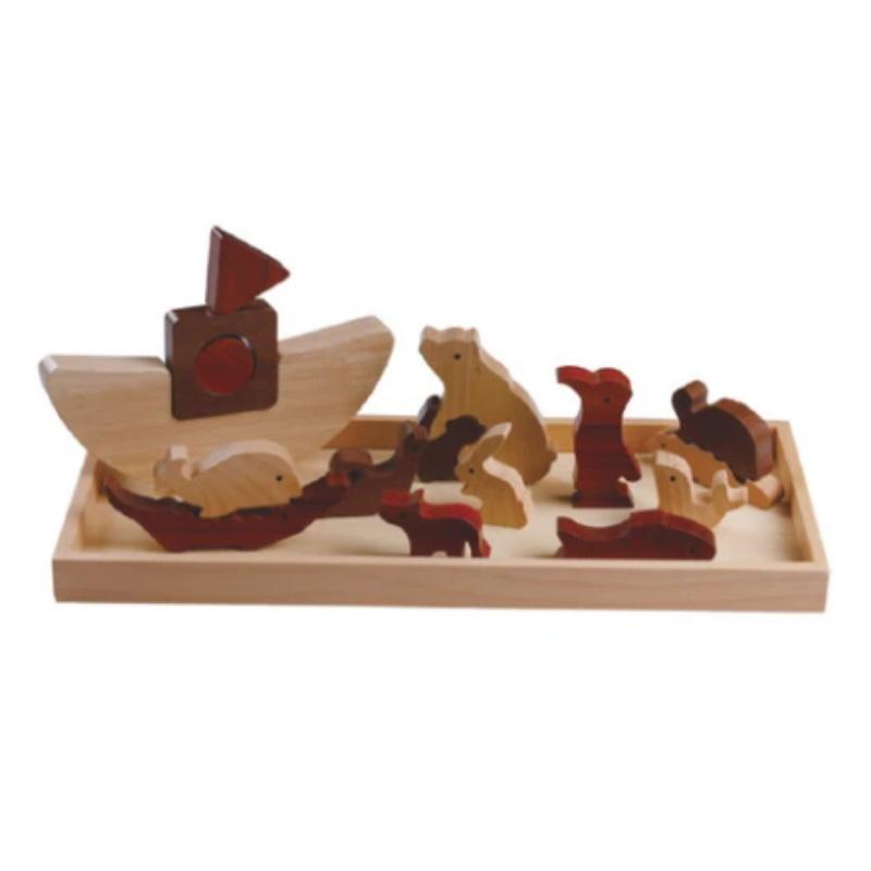 baby-fair Magic Forest Wooden Puzzle - Noah's Ark