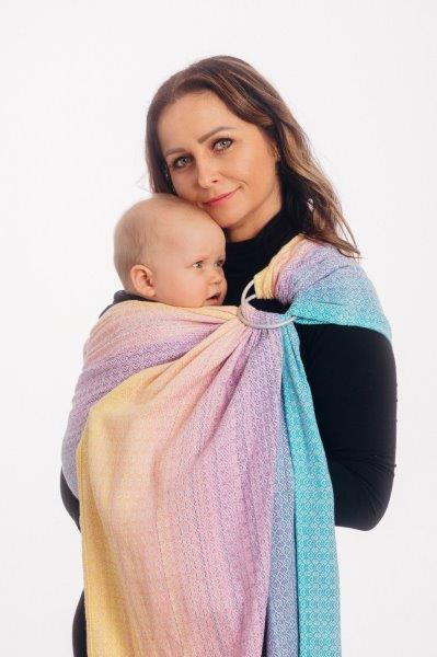 baby-fair LennyLamb Ring Sling - Little Love - Candyland (Jacquard Weave 80% Cotton, 20% Bamboo) - standard 1.8m