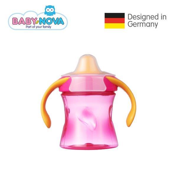 baby-fair Baby Nova Trainer Cup 220ml (6+ months) Magenta/Orange