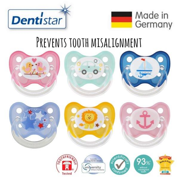 baby-fairDentistar Tooth-friendly Flat Pacifier (14+ months) size 3 with protective cap