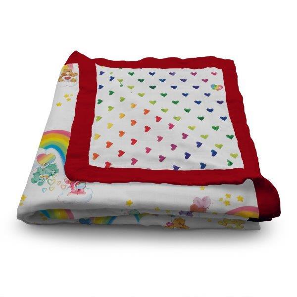 baby-fair(Coming Soon) Kanga Care x Care Bears : Birthday Party - Serene Reversible Blanket (Watercolor Rainbow)