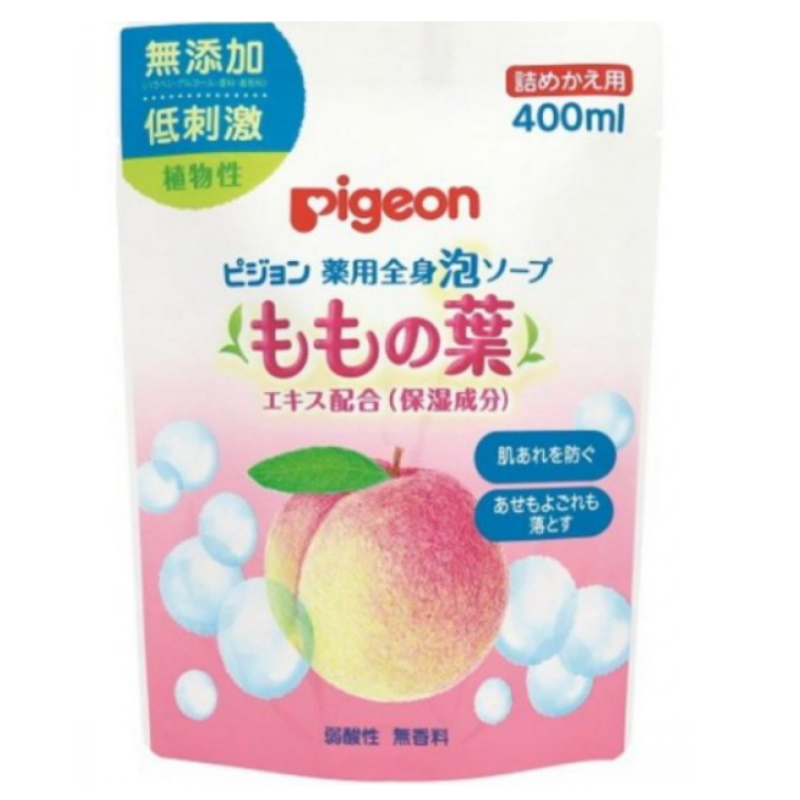baby-fair PIGEON BABY BODY FOAM SOAP (PEACH LEAF) 400ML, REFILL (JP) (PG-1003931)