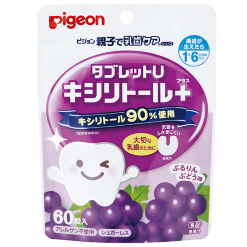 baby-fairPIGEON DENTAL CARE TABLET (GRAPES) 60P (JP) (PG-03464)