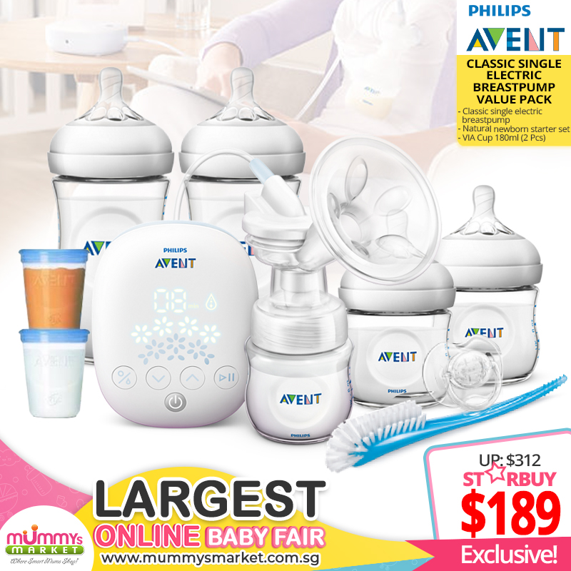 baby-fairPhilips Avent Classic Single Electric Breastpump Value Pack
