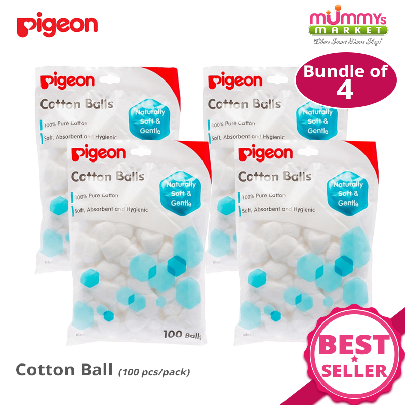 Baby Fair | Pigeon Cotton Ball 100 pcs (Bundle of 4 or 8)
