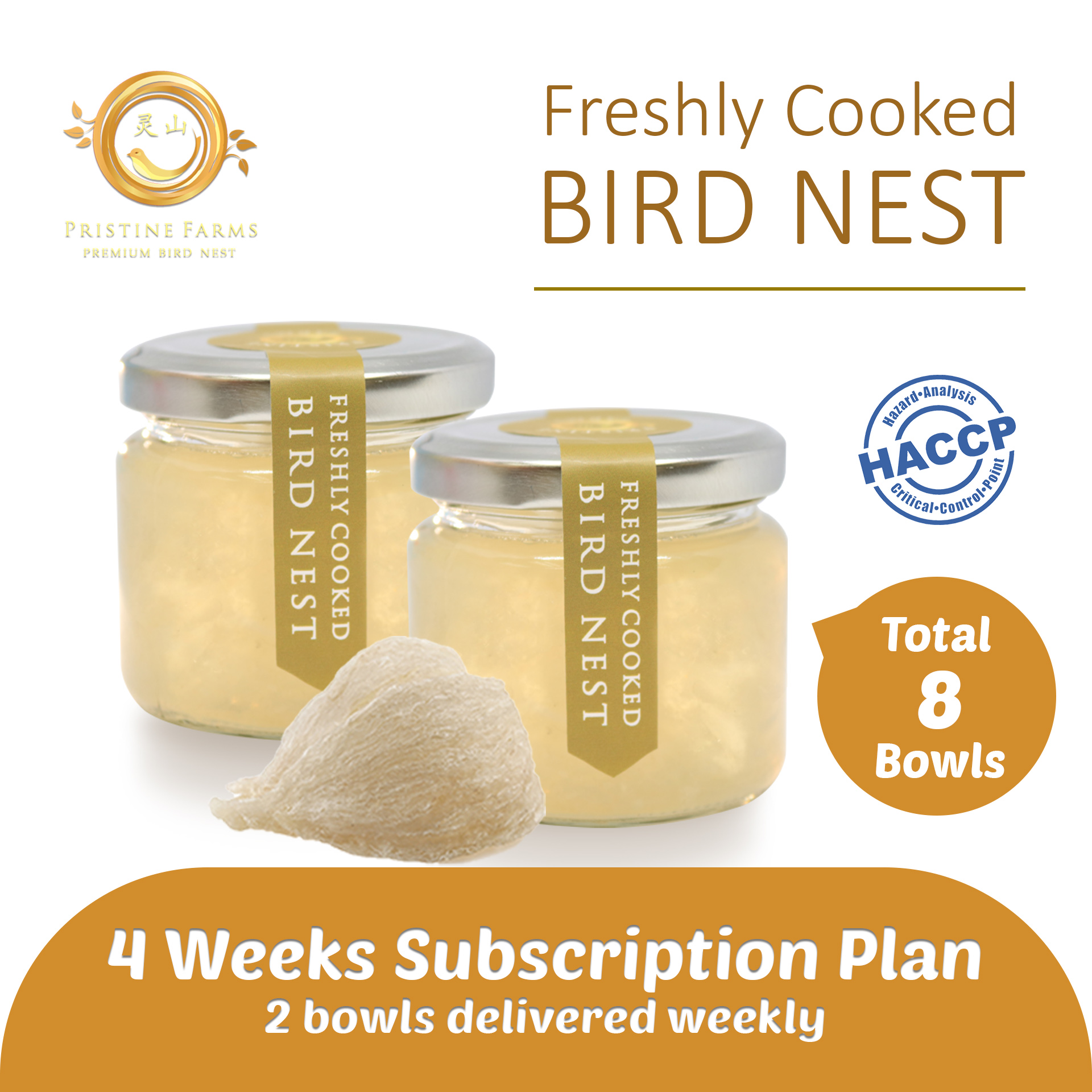 baby-fair Pristine Farm Freshly Cooked Bird Nest Soup Concentrate - 4 Weeks Subscription Plan