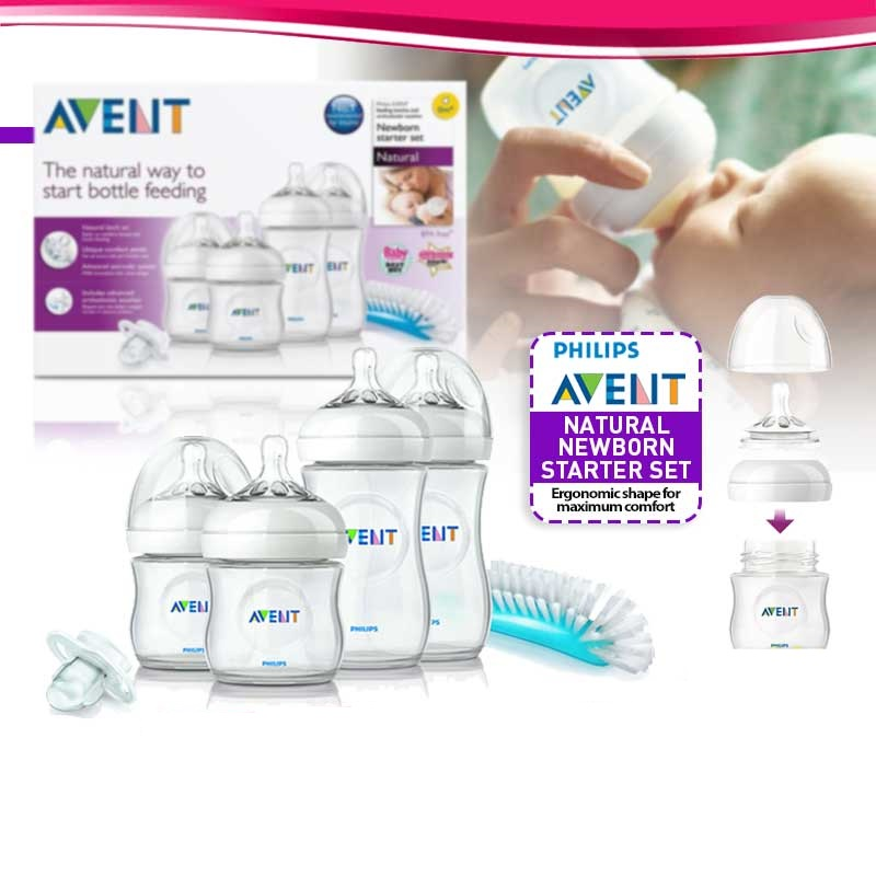 Philips Avent 3-In-1 Electric Steam Sterilizer Bundle + Warmer + Newborn Starter Set