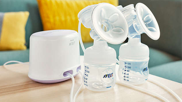 baby-fairPhilips Avent Twin Electric Breastpump Super Super Good Deal + Steam Sterilizer + Warmer + Nursing Shawl + Natural Newborn Starter Set