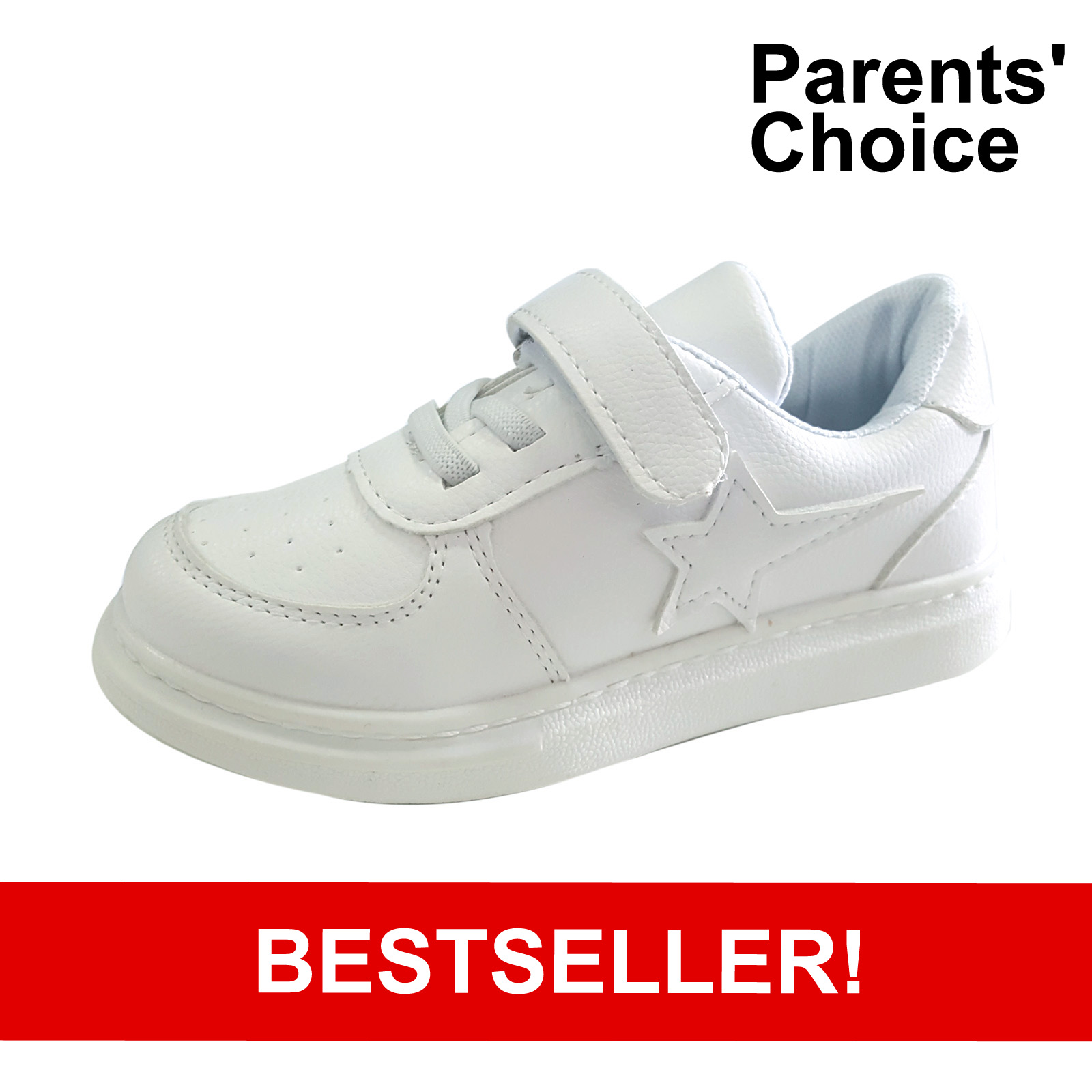 baby-fair Raf Raf White Leather School Shoes (3-7 years)