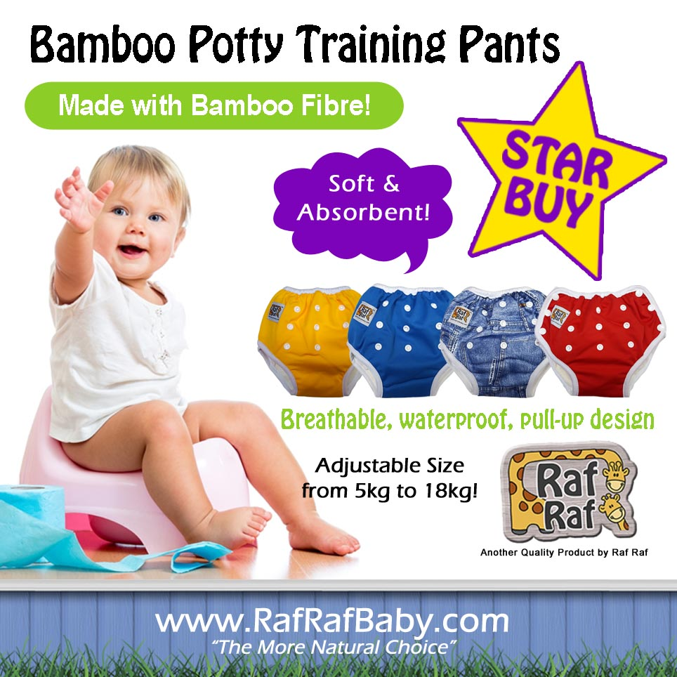 baby-fair Raf Raf Adjustable Bamboo Potty Training Pants (2pc)