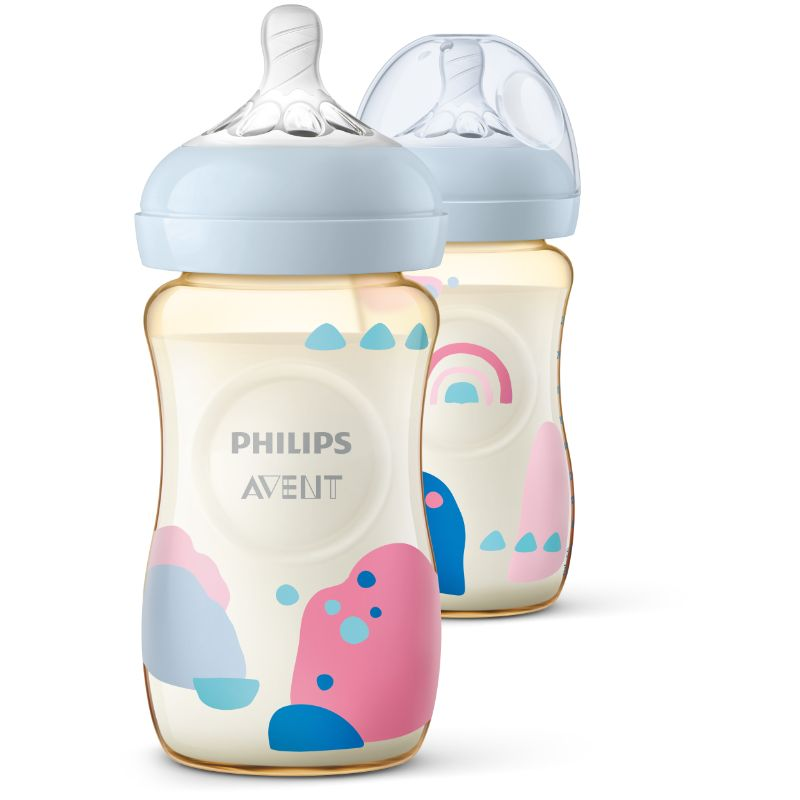 baby-fairPhilips Avent 260ml PPSU Bottle (Twin Pack) SCF582/20 + FREE Natural Teat 6months 4Hole (SCF654/23) (worth $9.50)!