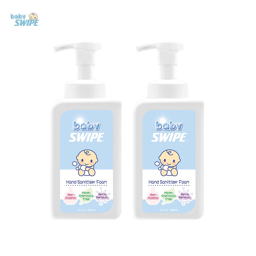 baby-fair babySWIPE Hand Sanitizer Foam 400ml - Twin Pack