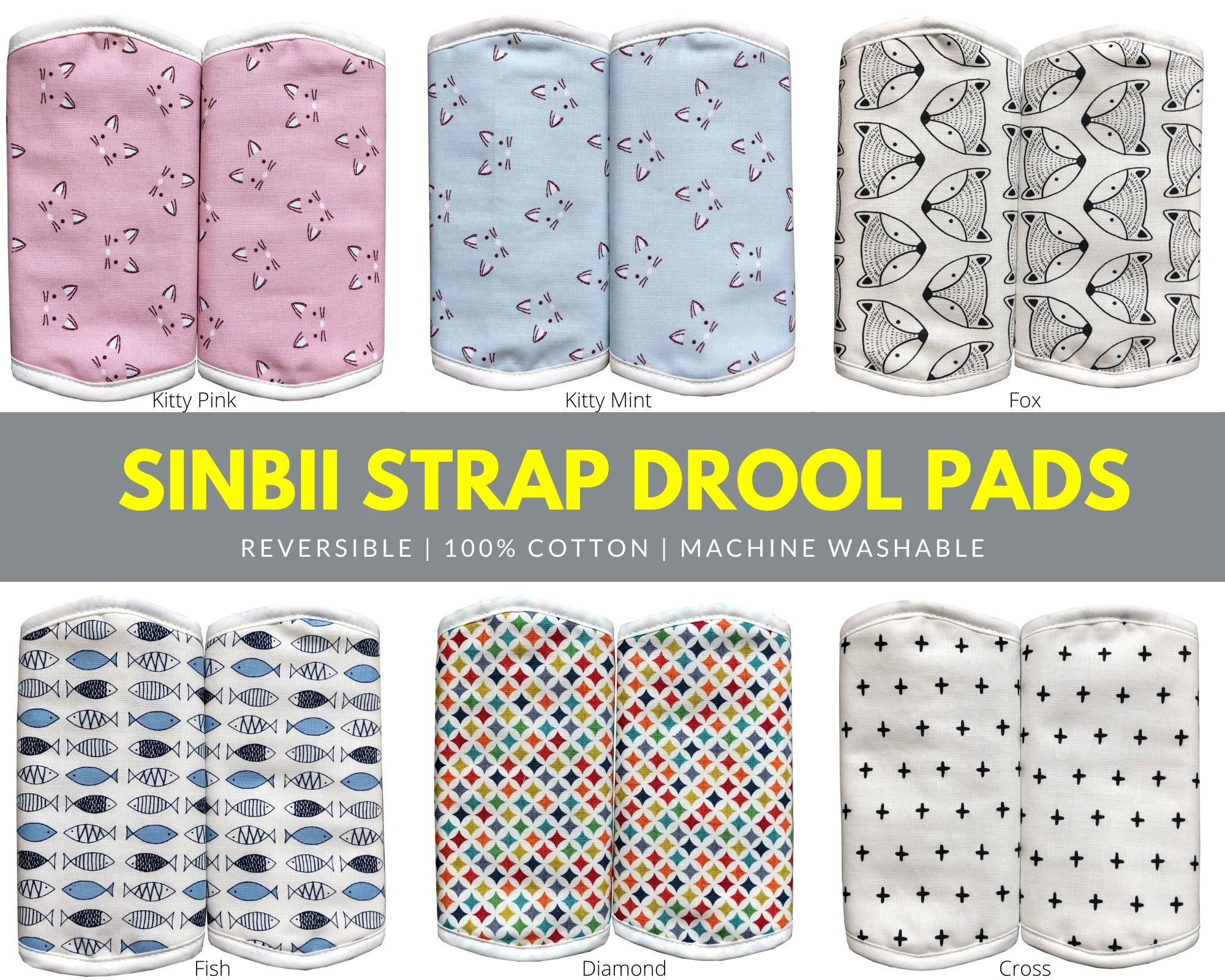 baby-fairSINBII  Straps Drool pads B