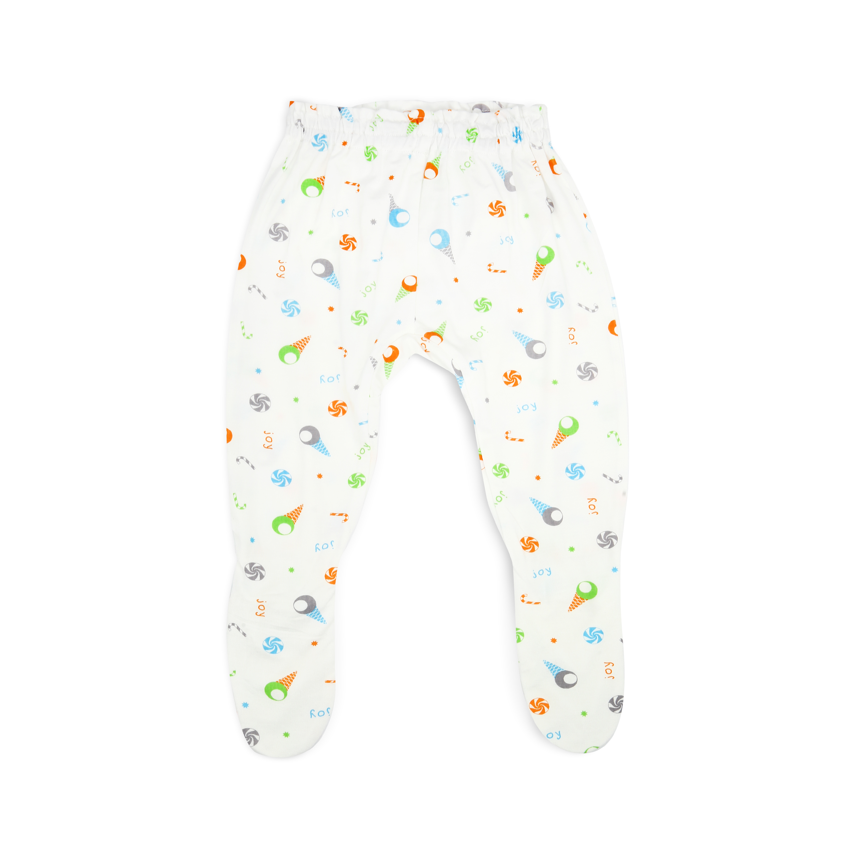Simply Life Bamboo Long Pants with Footie Ice Cream (6-9 months)