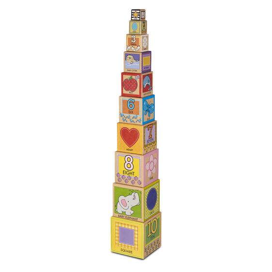Melissa & Doug: Natural Play Early Learning, Stacking & Nesting Blocks
