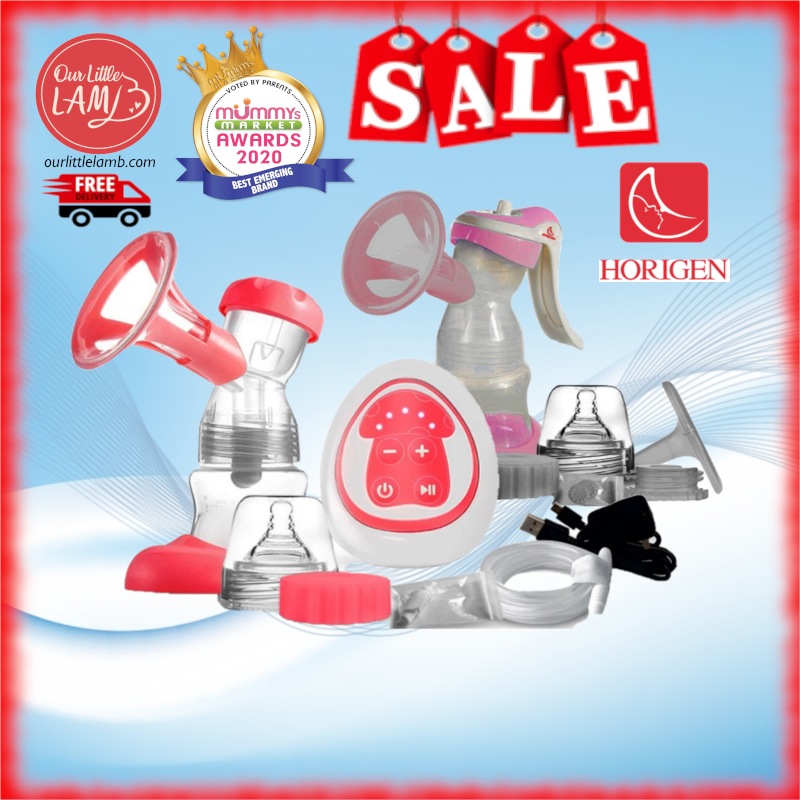 Horigen Exquisiture Single Electric Pump Bundle + Silicon Milk Cup (No Suction Base)