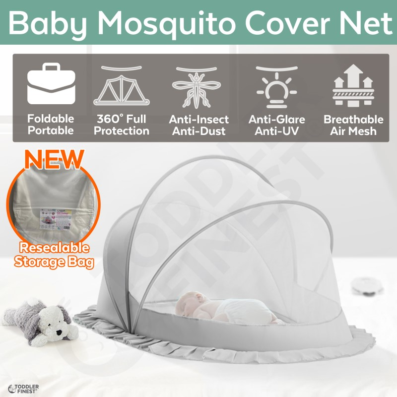 baby-fairBaby Universal Portable Foldable Anti Insect Mosquito Net - For Cot Crib Bassinet Lounger Nest Bed Tent Playpen - Camping Travel Home Outdoor (ToddlerFinest)