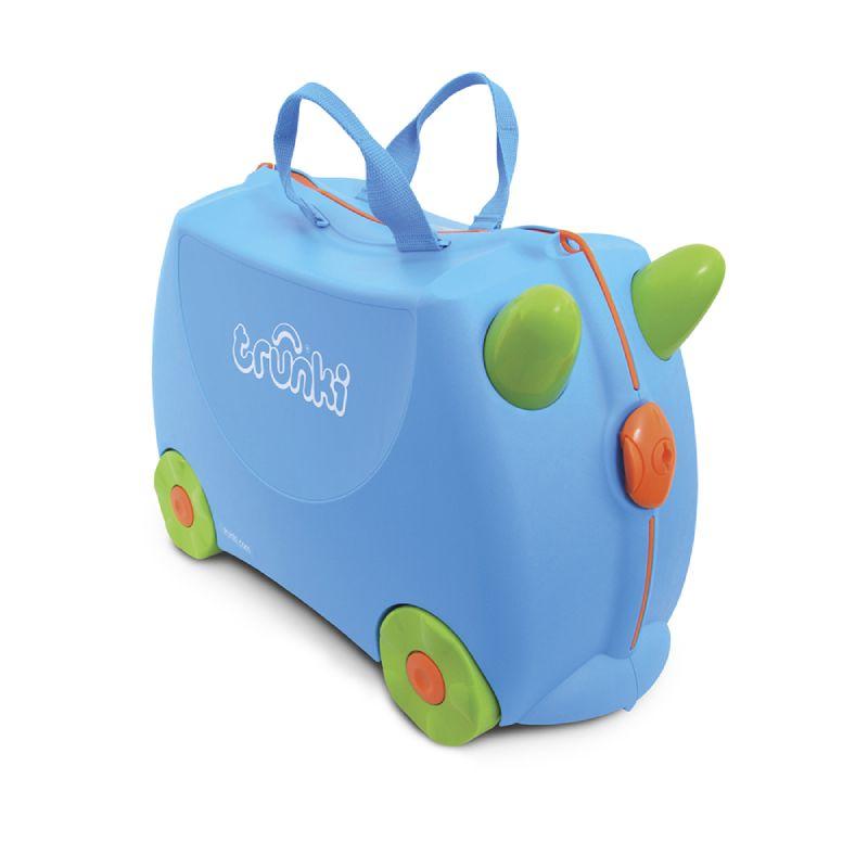 baby-fair Trunki Ride-On Luggage - Terrance Blue + FREE Lunch Bag – Tiger (worth $34.90)!