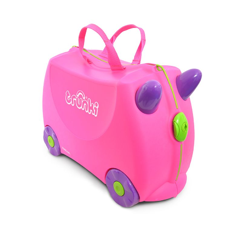 baby-fair Trunki Ride-On Luggage - Trixie Pink + FREE Lunch Bag – Tiger (worth $34.90)!