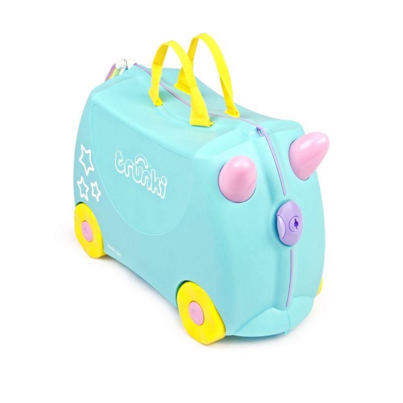 baby-fair Trunki Ride-On Luggage - Una the Unicorn + FREE Lunch Bag – Tiger (worth $34.90)!