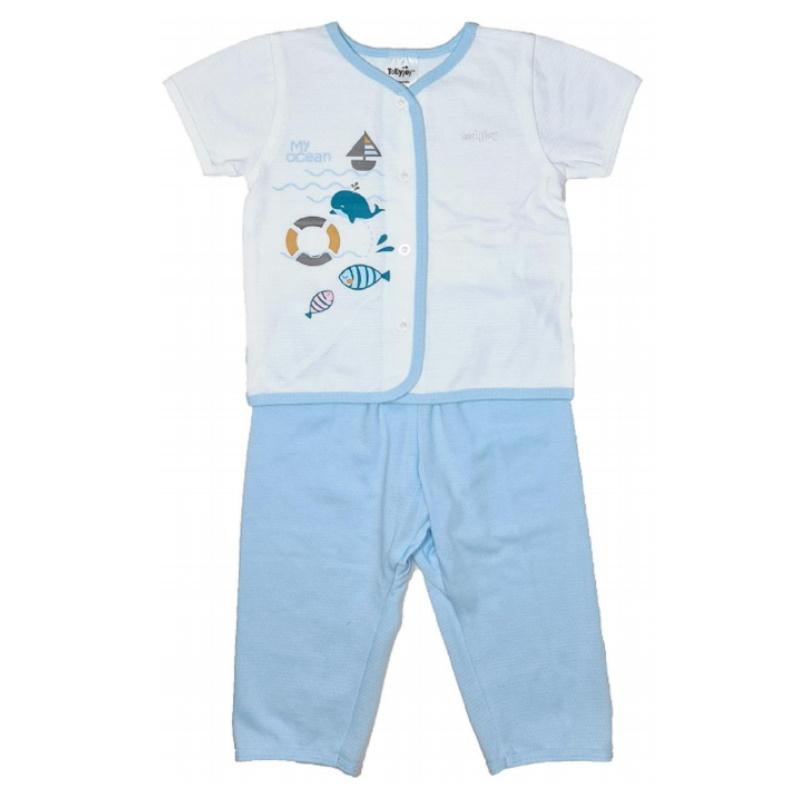 baby-fair Tollyjoy Short Sleeve Suit (Pants) - Blue