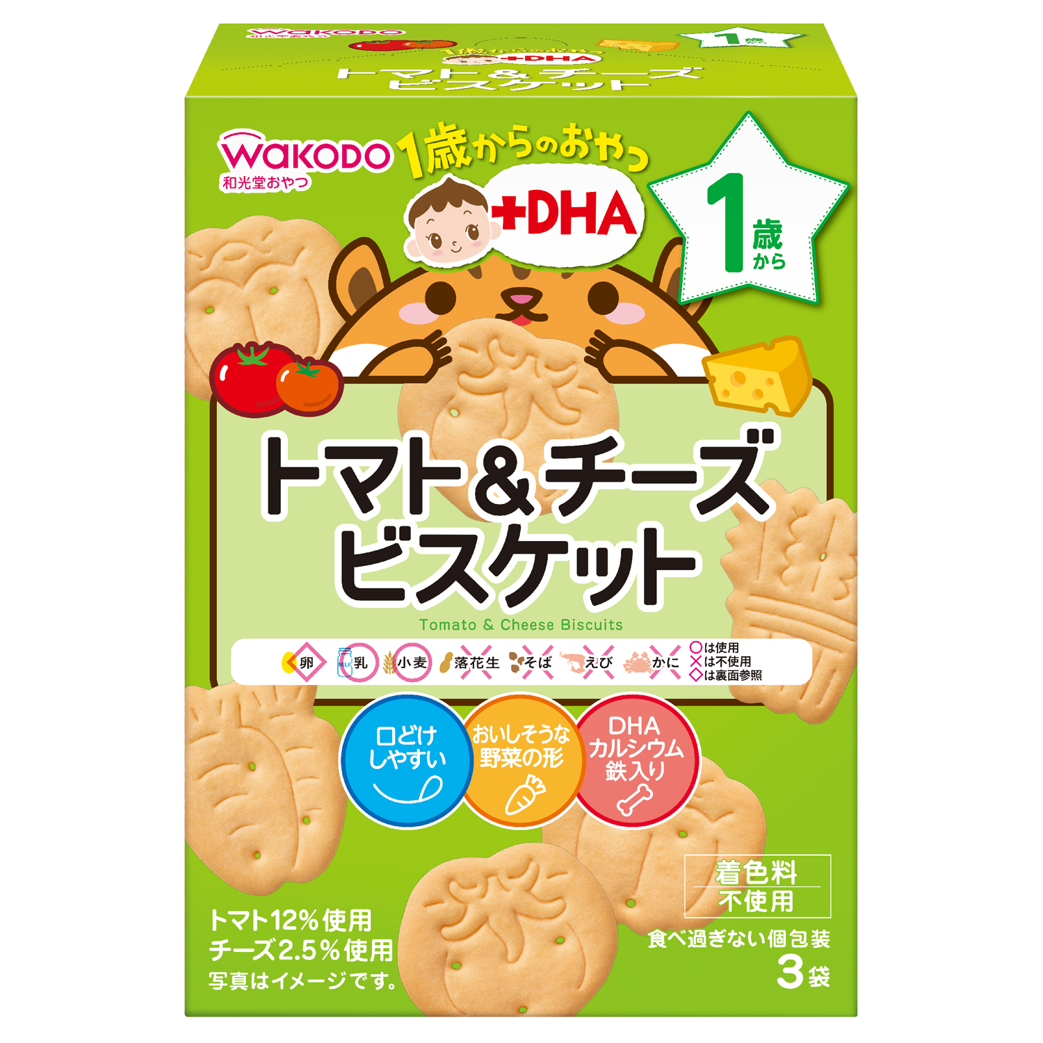 baby-fair WAKODO Tomato And Cheese Biscuit (Bundle of 6)