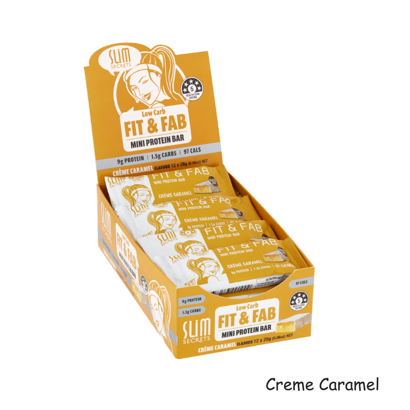 baby-fairSlim Secrets Low Carb Fit & Fab Mini Protein Bars 28g (Box of 12) Buy 1 Free 1
