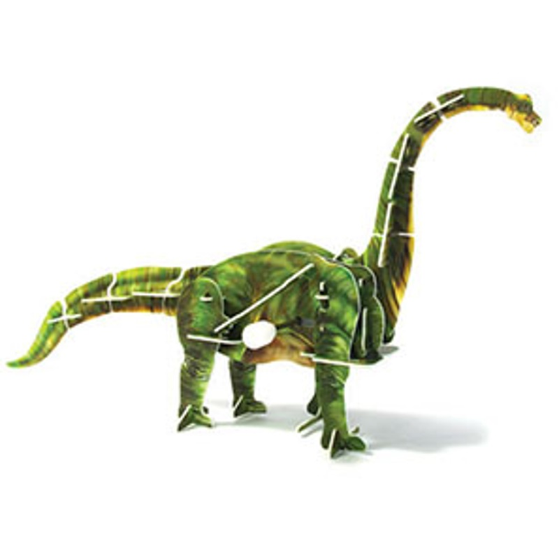 baby-fairJigsaw Puzzle Play N Learn 3D Wind-Up Brachiosaurus Educational Party Gift