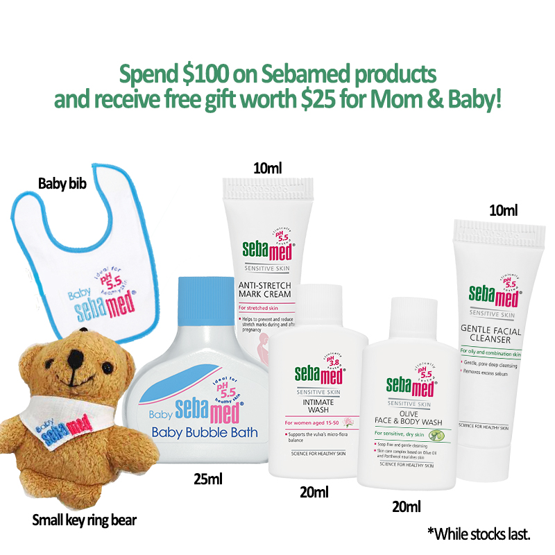 Sebamed Newborn Bundle (Baby Wash, Lotion, Diaper Cream)