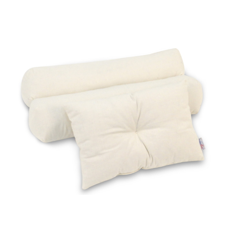 baby-fair Babylove Organic Kapok Natural Cotton 3in1 Pillow & Bolster Set