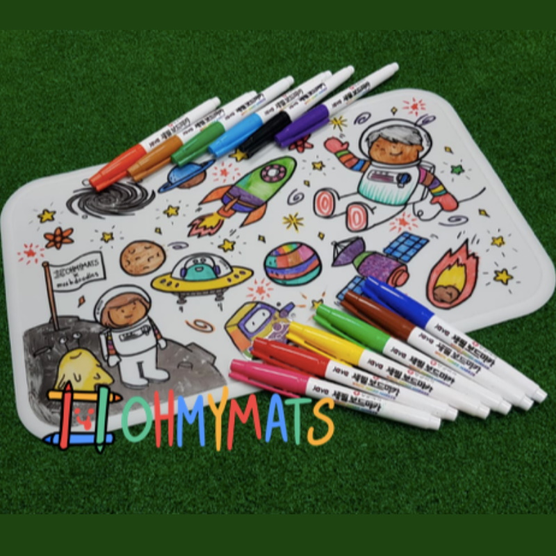 #ohmymats - Small (Mat Only) Resuable Colouring & Dining Place Mat (KOREA)
