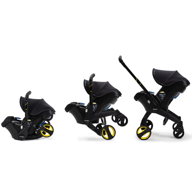 (NEW LAUNCH Limited Edition MIDNIGHT!) The Doona CONVERTIBLE Carseat Stroller! + FREE Doona All Day Bag Worth $139 + Delivery + Infant Insert + Head Support + Canopy + Seat Protector + 2 Years Warranty Delivery + Infant Insert + Head Support + Canopy + Se