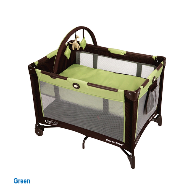baby-fairGraco Pack N Play Base Go Playpen + Free 2 Inch Anti Dustmite Foam Mattress + Quitted Sheet  - Delivery Starts Mid June