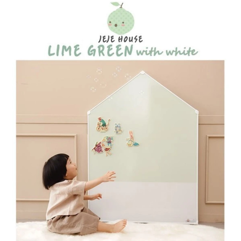 baby-fair Momsboard JeJe House (M) - Lime Green with white
