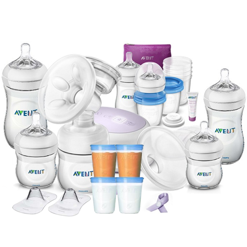 baby-fairPhilips Avent Single Electric Breastpump Value Pack + 260ml Natural Bottle (Twin pack) + 125ml Natural Bottle (Single pack)X2 + VIA Cup 180mlX4pcs (SCD292/01VP-F)