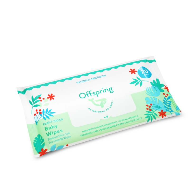 baby-fairOffspring Plant-Based Baby Wipes 20ct