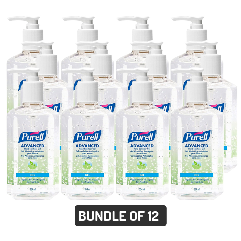 baby-fair Purell Advanced Instant Hand Sanitizer Pump Bottle (Fragance Free) 12oz/354ml - Pack of 12