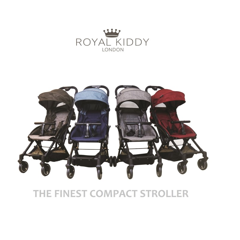 baby-fairRoyal Kiddy London Air Transporter Lightweight Compact Stroller *FREE Travel Bag + Cup Holder + Footrest Cover + Mosquito Net + Rain Cover (Worth $99!!)