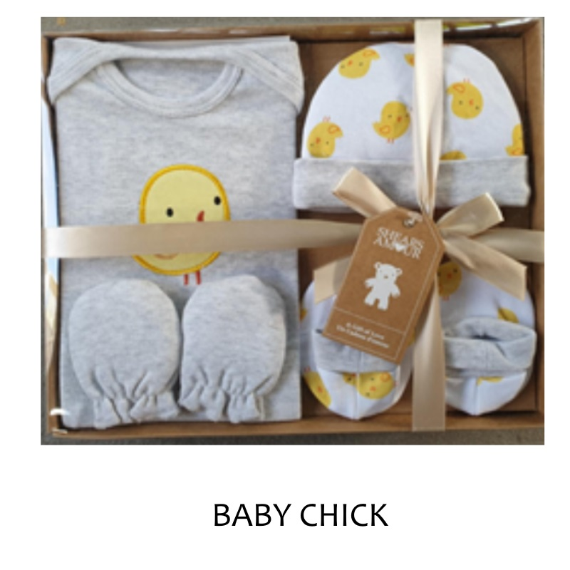 baby-fair Shears Amour Gift Set 4 PCS Gift Set (Bodysuit,cap,booties,mittens)
