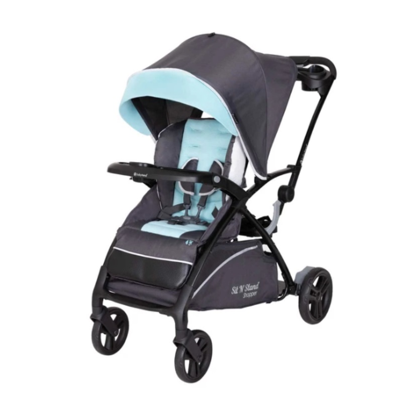 baby-fairNEW LAUNCH! Baby Trend SIT N STAND 5-IN-1 SHOPPER STROLLER (Blue Mist)