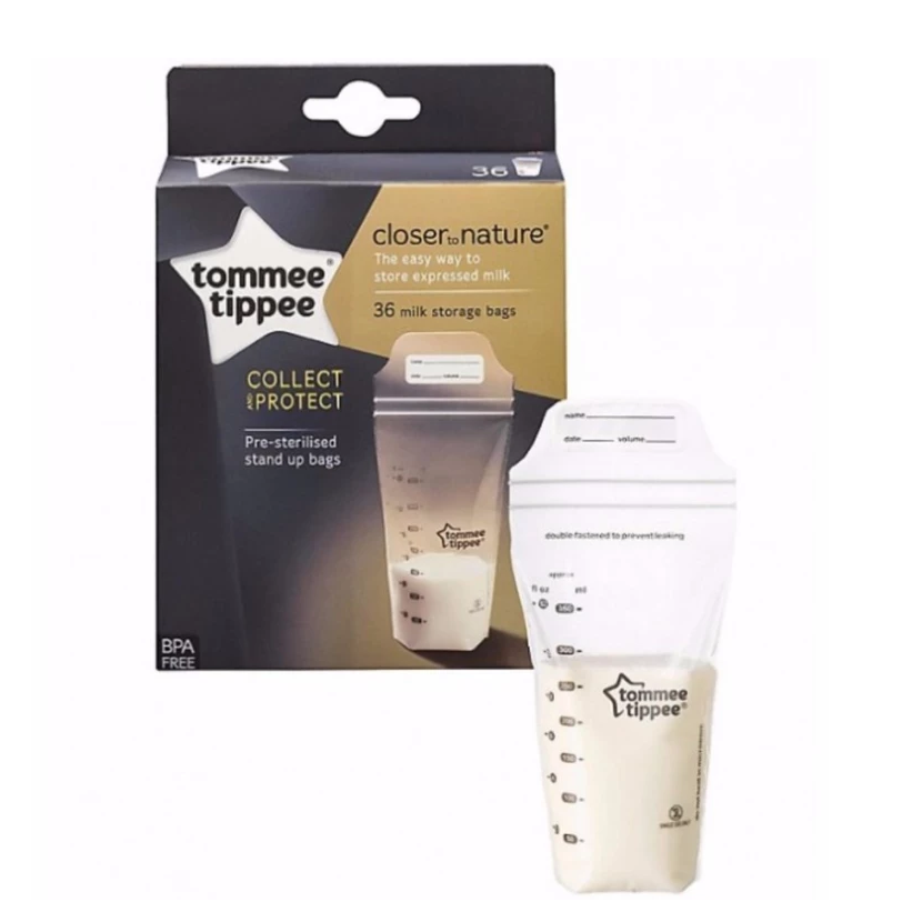 baby-fairTommee Tippee Closer to Nature 36pk BreastMilk Storage Bags 350ml