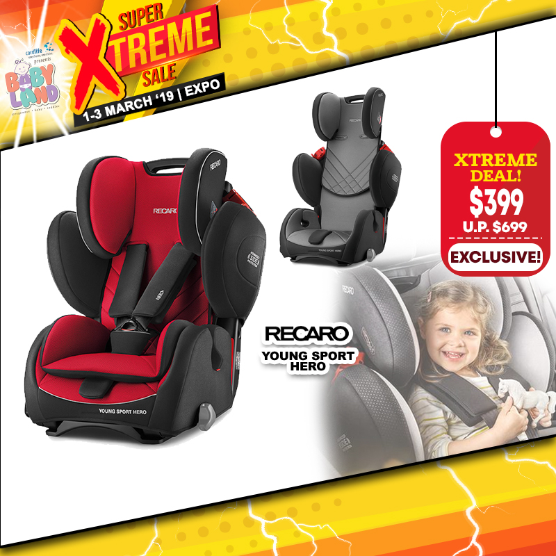 Recaro Young Sport Hero Carseat for $399 ONLY!! (Racing RED)