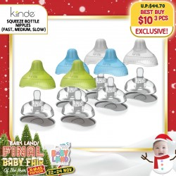 Kiinde Squeeze Bottle Nipples (Fast or Medium or Slow) 3 for $10