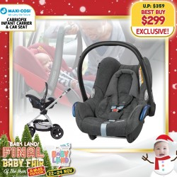 baby-fairMaxi Cosi CabrioFix Carseat + Free 3 Years Warranty + Carseat Installation worth $80!