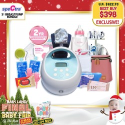 baby-fairSpectra S1+ Breastpump Bundle + Free Gifts Worth $300+ Koala Carrier + Warmer + 2 Years Warranty!!