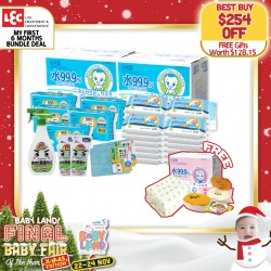 LEC The First 6 months Wet Wipes Bundle - The Only Baby Wipes with 2 USA & JAPAN Patents