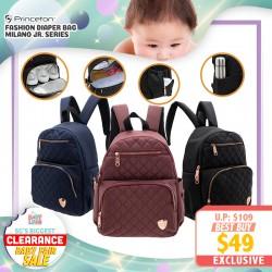 baby-fairNEW LAUNCH!! Princeton Fashion Diaper Bag Milano Jr. Series (3 Colors Available)